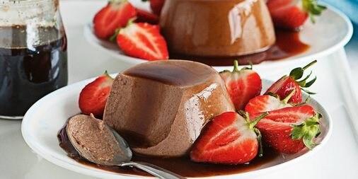 Chocolate Strawberry Panna Cotta